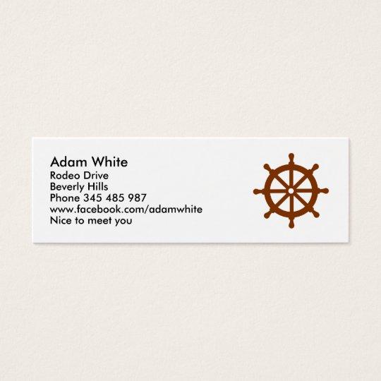 Steering wheel - ship mini business card