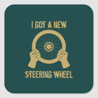 Steering wheel square sticker