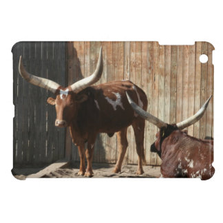 Steers With Big Horns iPad Mini Case