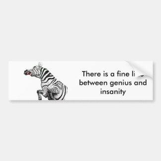 Steevn_zebra There is a fine line Car Bumper Sticker