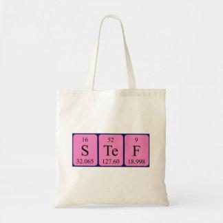 Stef periodic table name tote bag