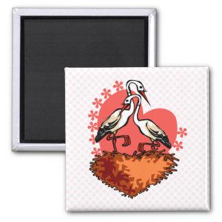 Stefan and Stefanie Stork 2 Inch Square Magnet