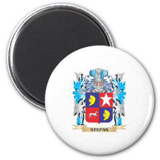 Stefan Coat of Arms - Family Crest 2 Inch Round Magnet