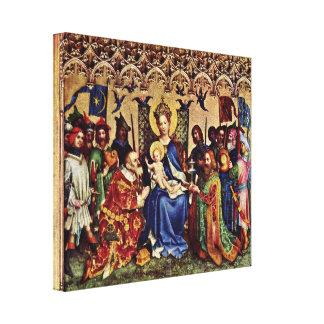 Stefan Lochner - Adoration of the Magi Canvas Print