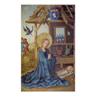 Stefan Lochner - Birth of Christ Poster