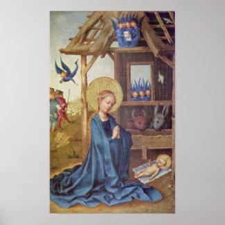 Stefan Lochner - nacimiento de Cristo Póster