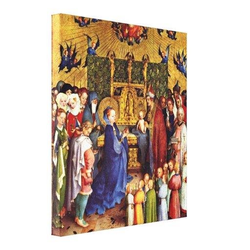 Stefan Lochner - Presentation in the Temple Canvas Print