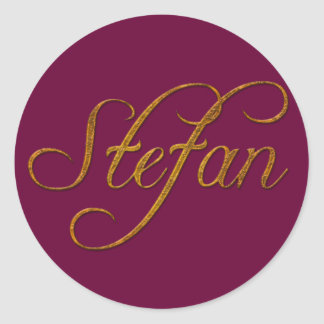 STEFAN Name Branded Personalised Gift Stickers