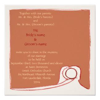 """Stefana Sillouette 5.25"""" Square Invitation Card"""