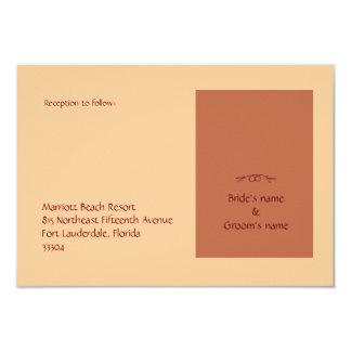 """Stefana Sillouette Reception 3.5"""" X 5"""" Invitation Card"""