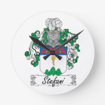 Stefani Family Crest Wall Clocks