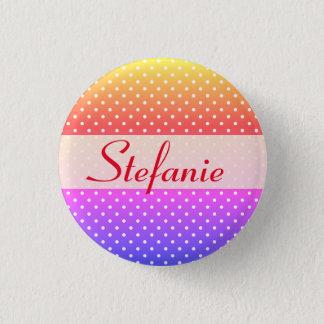 Stefanie name plate Anstecker Button