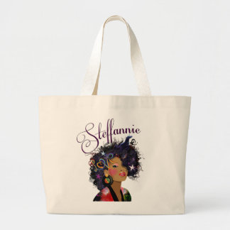 """"""" Steffannie"""" (Personalized Tote) 2 Large Tote Bag"""