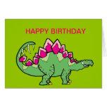 Stegasaurus Greeting Card