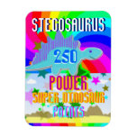 Stegosaurus 250 Power Super Dinosaur Points Rectangular Photo Magnet