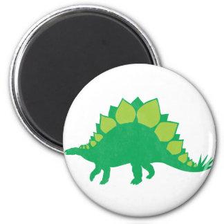 Stegosaurus 2 Inch Round Magnet