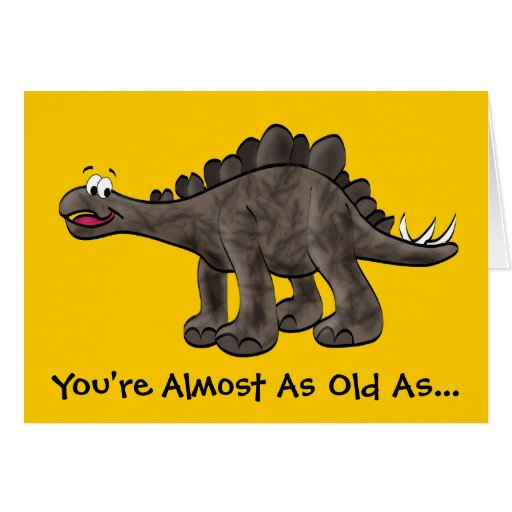 Stegosaurus Birthday Card