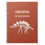 Stegosaurus Bones Dinosaur Dig Spiral Note Books