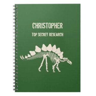 Stegosaurus Bones Dinosaur Dig Spiral Notebook