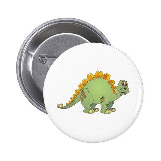 Stegosaurus Cartoon Button