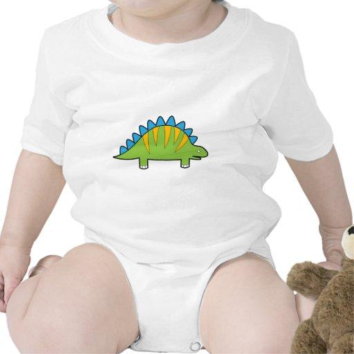 Stegosaurus colorido Dino del dibujo animado Camiseta