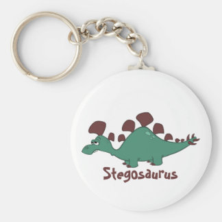 Stegosaurus del dibujo animado llaveros personalizados