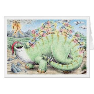 Stegosaurus del navidad tarjeta de felicitación