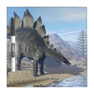 Stegosaurus dinosaur - 3D render Dry Erase Board