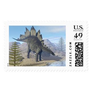 Stegosaurus dinosaur - 3D render Postage