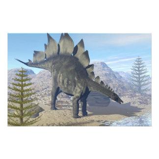 Stegosaurus dinosaur - 3D render Stationery
