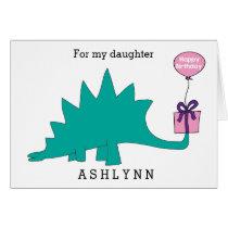 Stegosaurus Dinosaur Birthday Daughter
