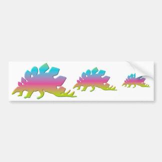 Stegosaurus Dinosaur Car Bumper Sticker