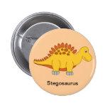Stegosaurus Dinosaur Button