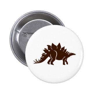 Stegosaurus dinosaur 2 inch round button