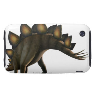 Stegosaurus dinosaur, computer artwork. iPhone 3 tough covers