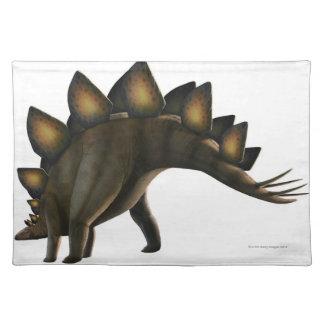 Stegosaurus dinosaur, computer artwork. placemat