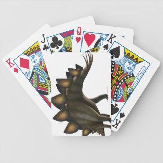 Stegosaurus dinosaur, computer artwork. deck of cards