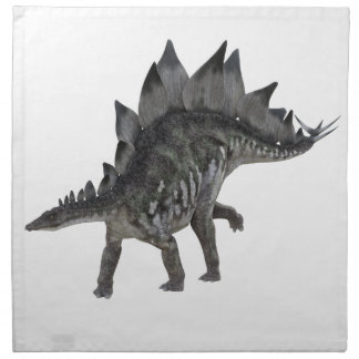 Stegosaurus Dinosaur Moving to the Right Napkin