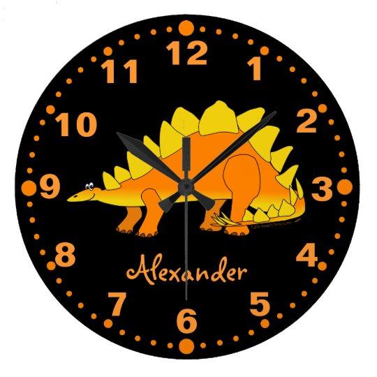 Stegosaurus Dinosaur Personalized Clock for Kids