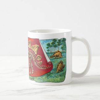 Stegosaurus Dinosaur Skeleton Classic White Coffee Mug