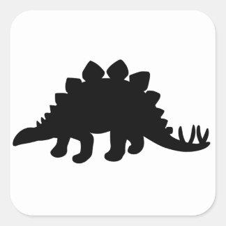 Stegosaurus Dinosaur Square Sticker