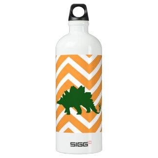 Stegosaurus en galón del zigzag - naranja y blanco