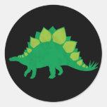 Stegosaurus Etiqueta Redonda