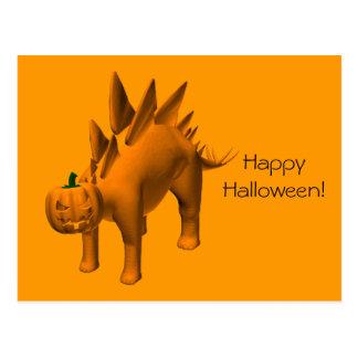 Stegosaurus halloweenis postcard