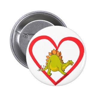 Stegosaurus heart pin