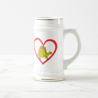 Stegosaurus heart mugs