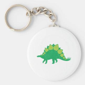 Stegosaurus Basic Round Button Keychain