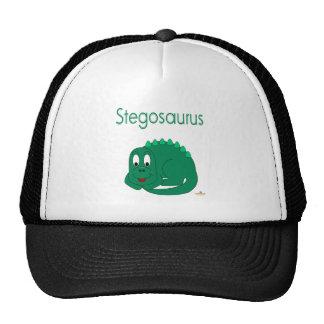 Stegosaurus lindo del Lt dinosaurio verde del bebé Gorras