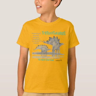 Stegosaurus My Inner Dinosaur Kids Shirt Greg Paul