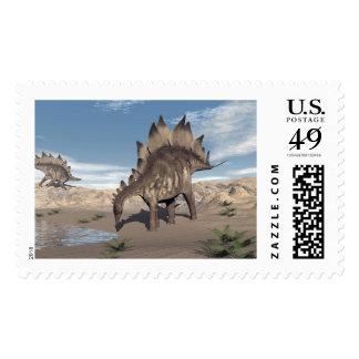 Stegosaurus near water - 3D render Postage